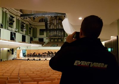Event Video National Concert Hall Dave Prepping The Cameras