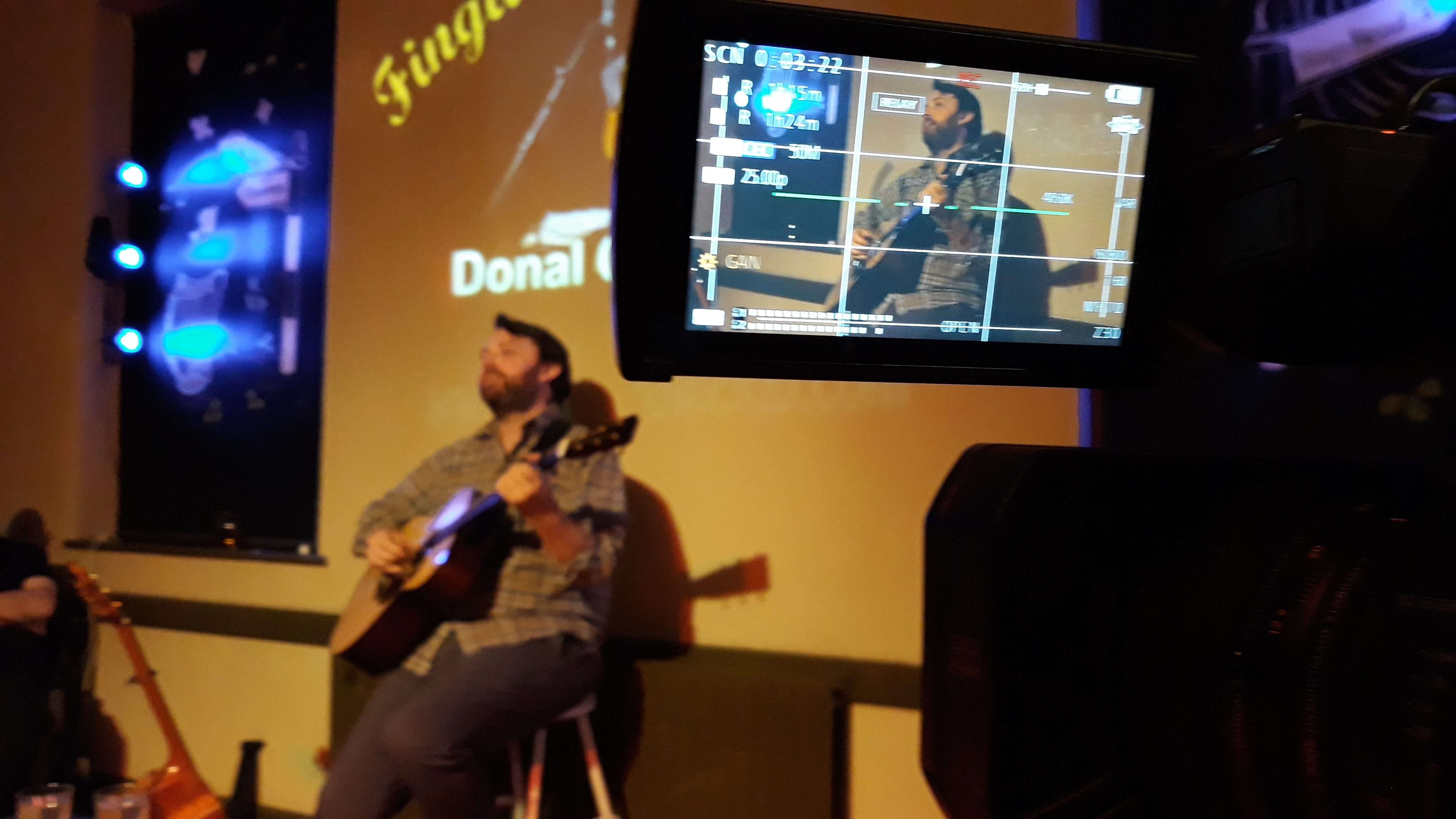 Donal Clancy performing at the Fingla Folk Club