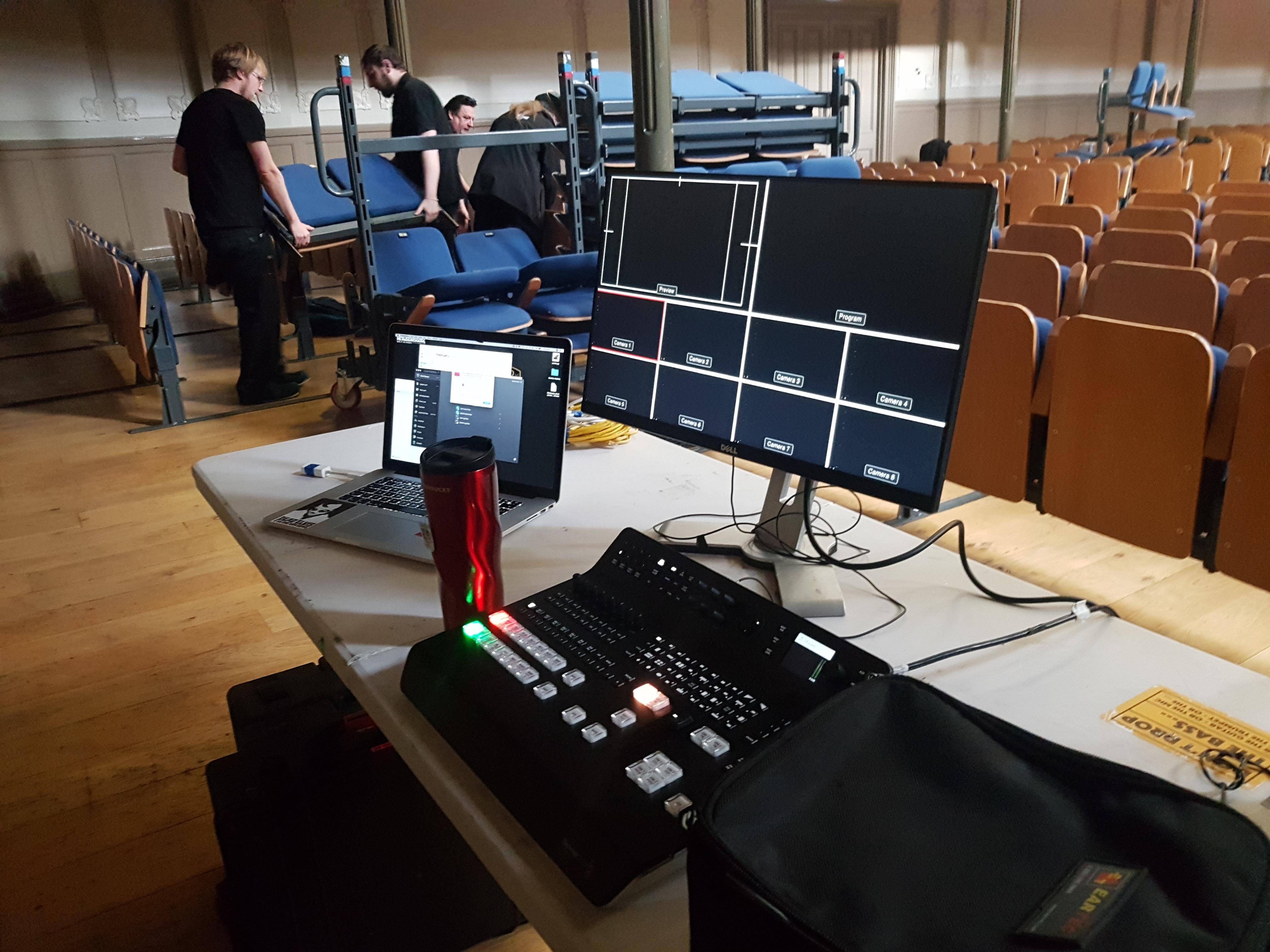Ulster Hall Belfast Live Stream Setup